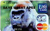 SAVE THE GREAT APES カード