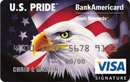 U.S. Pride BankAmericard Cash Rewards VisaCard
